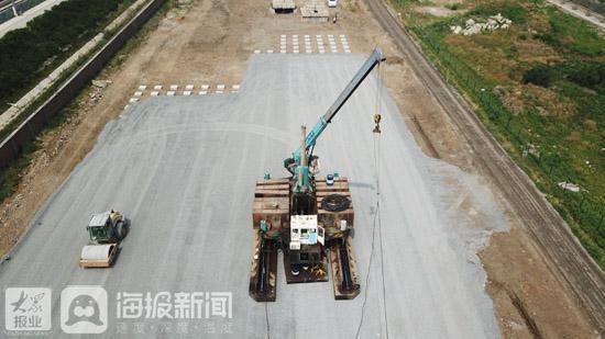 济莱高铁项目施工现场